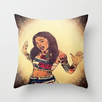 aaliyah Throw Pillows featuring One In A Million by Artistic
