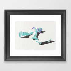 skateboarding (lost time, risograph version) Framed Art Print