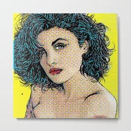 Twin Peaks Pop Art Audrey Horne Metal Print