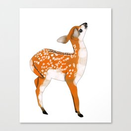 Woodland Creatures Series: Baby Deer Canvas Print