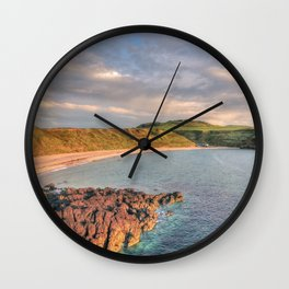 Whistling Sands at Dusk Wall Clock