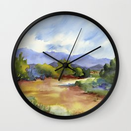 Distant Santa Fe Wall Clock