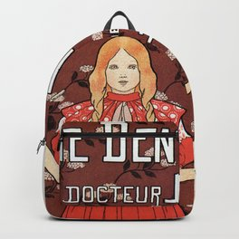 Dentifrice French belle epoque toothpaste ad Backpack