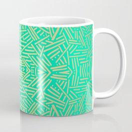 Radiate (Yellow/Ochre Teal- non metallic) Coffee Mug