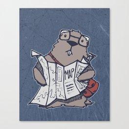A Geeky Marmot Canvas Print