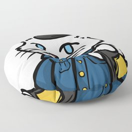 police policeman officer gift security guard law Floor Pillow