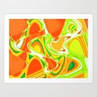 Nixo abstract Art Print
