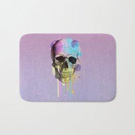 skull in purple Bath Mat