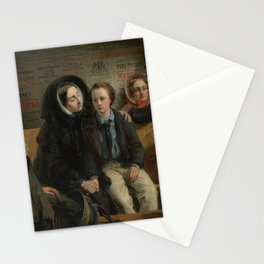 "Abraham Solomon - ""Thus part we rich in sorrow, parting poor."" (1855, alt) Stationery Cards"