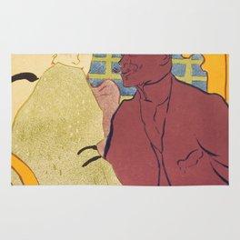 """Henri de Toulouse-Lautrec """"Flirt"""" Rug"""