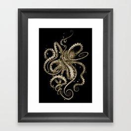 Octopsychedelia Sepia Framed Art Print