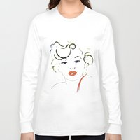 marylin monroe Long Sleeve T-shirts featuring Out with Marylin by Irène Sneddon