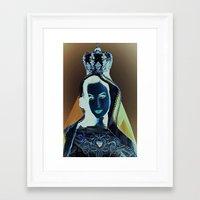 madonna Framed Art Prints featuring madonna by Mike Fernandez