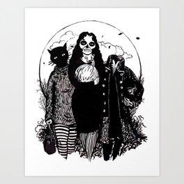 Halloween Trio Art Print