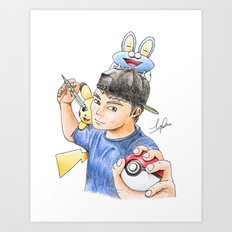 PokeArtist Art Print