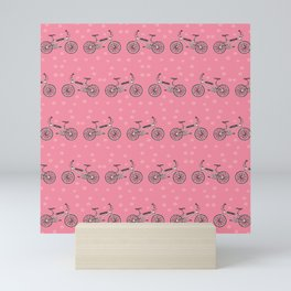 Bicycles pattern Mini Art Print
