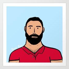 Beard Boy: Rafa Art Print