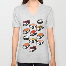 Sushi Panda Unisex V-Neck