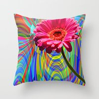 perfume Throw Pillows featuring PERFUME by SPACEZING