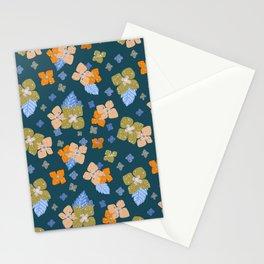 Hydrangea Close-up - Retro 2 Stationery Cards