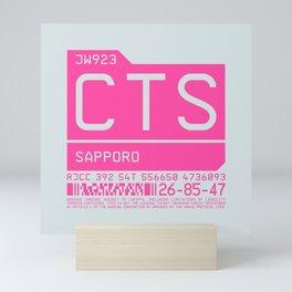 Luggage Tag C - CTS Sapporo New Chitose Japan Mini Art Print