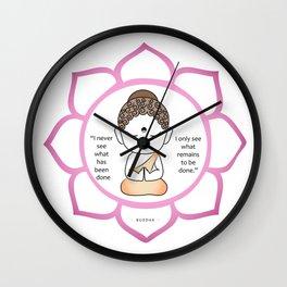 Cute little Buddha in a lotus flower Wall Clock