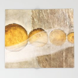 Golden balls Throw Blanket