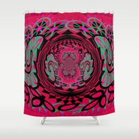 hip hop Shower Curtains featuring Feelin Hip Hop by Wired Circuit