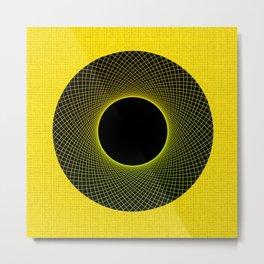 Lemon Vortex Yellow Metal Print