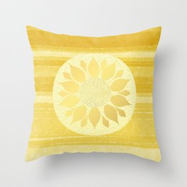 Sunflower under the Tuscan Sun Throw Pillow