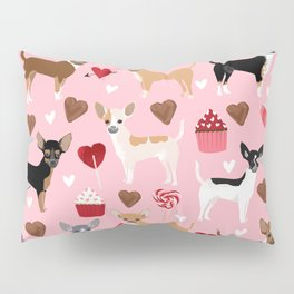 Chihuahua love hearts cupcakes valentines day gift for chiwawa lovers Pillow Sham
