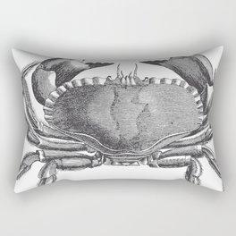 Engraved Crab Rectangular Pillow