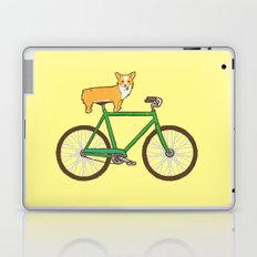 Corgi on a bike Laptop & iPad Skin