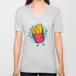 Cloudy Fries Unisex V-Neck