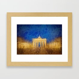 Modern Art BERLIN Brandenburg Gate Framed Art Print