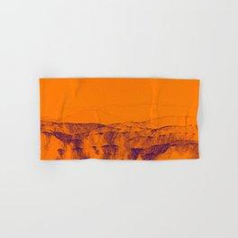 Enigmatic orange beach digital landscape photo painting | modern decoration art Hand & Bath Towel