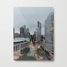 up in the manhattan sky Metal Print