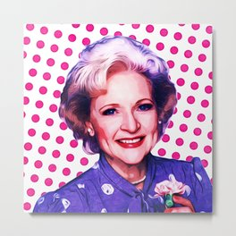 Betty White - Pop Art Metal Print