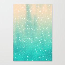 Cosmic Snowfall Canvas Print