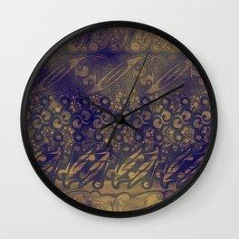 Batik Ornaments from Yogyakarta Wall Clock