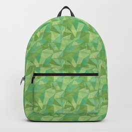 Abstract Polygon Summer Green Cubism Low Poly Triangle Design 2 Backpack
