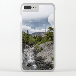 River Rocks Waterton Clear iPhone Case