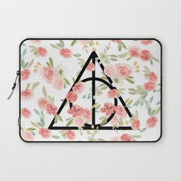 Floral Deathly Hallows Laptop Sleeve
