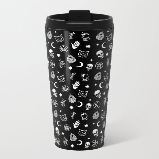 Witch pattern Metal Travel Mug