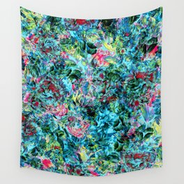 Abstract Floral Chaos Wall Tapestry