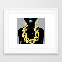 80s Framed Art Prints featuring 80s by shutupjade