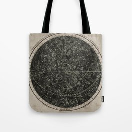 Constellations of the Northern Hemisphere on Vintage Paper Tote Bag