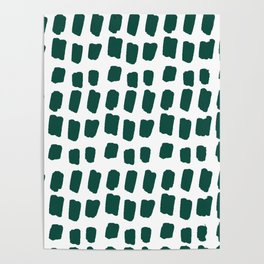 Green Abstract Paint Splotches Poster