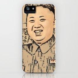 Kim Jong Un Artistic Illustration Ancient Oriental Draw Style iPhone Case