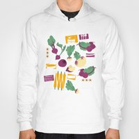 vegetables Hoodies featuring Root Vegetables by Lucilight